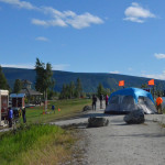 The day I left Whitehorse was the start of the Yukon River Quest Race. 444 miles on the water. This is the finish line.