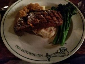 Nice Steak, well presented.