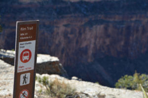 All along the rim trail, these signs provide a lot of useful info to help you make better decisions about hiking versus grabbing a bus, and where you are along the trail.