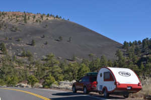 Cinder cone and the rig